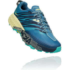 Hoka One One Speedgoat 4 Shoes Women provincial blue/luminary green